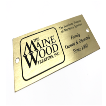 Custom size Chemically Etched Metal Plaque sign for big brand