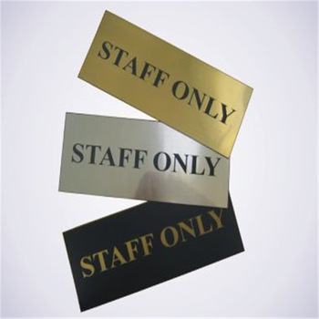 Custom stainless steel etched Engraved Metal Signs