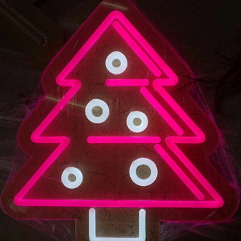 Customized party signboard happy new year merry christmas palm tree flex led custom neon sign