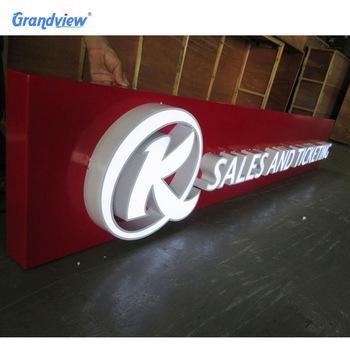Custom Retail Store Front Sign Outdoor Signage Logo 3D Storefront LED logo Sign outdoor storefront signs