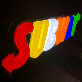 New Fashion 3D Front Lighted Vacuum Formed Letter Signage