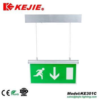 KEJIE IP20 Fire Safety  Wall Mounted LED Emergency Exit Sign Light  Warning Bulkhead