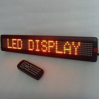CE RoHS 7X80pixel P7.62mm semi-outdoor red English acrylic led sign with scrolling one line text