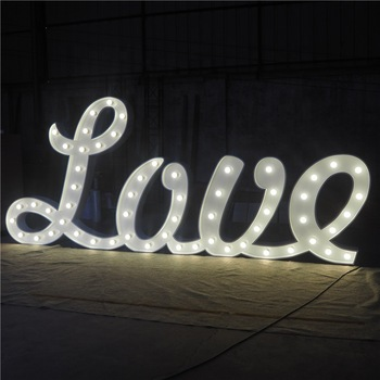 Super bright alphabet marquee outdoor waterproof metal acrylic marquee led letters large alphabet letters signs lighted sign