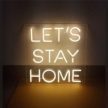 Factory custom hanging colorful acrylic Warm White custom tube neon signs letters custom led neon signs
