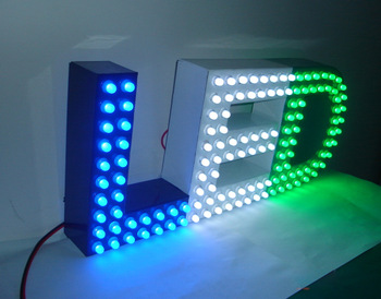 Eye-catching RGB Channel Letter Sign for Advertising and Decoration