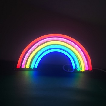 hot sale multiple color custom led neon rainbow sign  for home and office