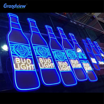 Decorative indoor and outdoor custom 3D light up flex led acrylic neon letter sign