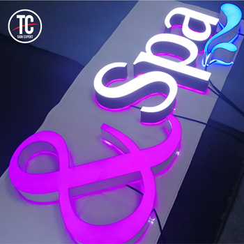 Front and Back Acrylic Lighted Up Channel Letter Sign