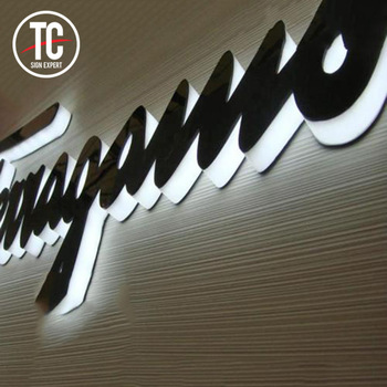 3D Lighting Acrylic LED Channel Letter Sign / Bending Machine Making Acrylic face Lighting Letters