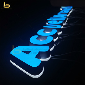 Factory Supply Acrylic 3D LED Channel Letters Sign for Indoor Advertising