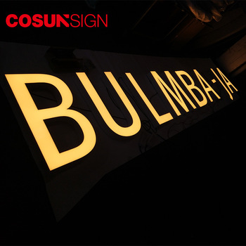 outdoor led shopfront metal acrylic light up channel letter sign