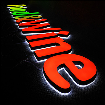 Most Popular and High Quality Frontlit Channel Letter LED Light custom 3d logo sign