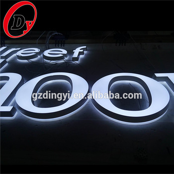custom made waterproof electronic signs front light acrylic led outdoor light up letters