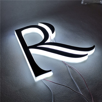 illuminated acrylic letter outdoor lighted letter signs
