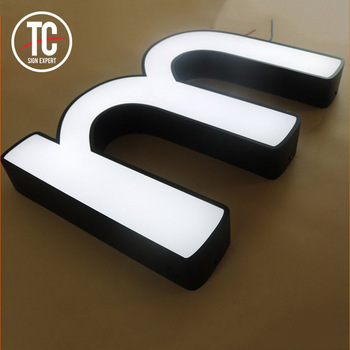High Quality Good Price Alibaba Sign Up Supplier Advertising LED face lit letter sign for coffee and pizza shop