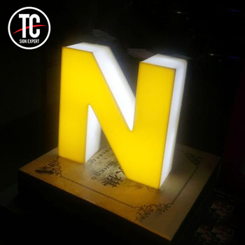 Free Design  Led Lighted  Led Channel Acrylic Letter and Logo Sign