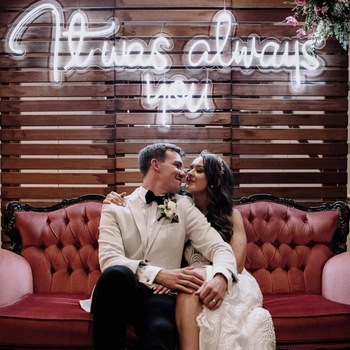 Diy Outdoor Hanging Silicon Led Little Wall Signs Neon Signage For Wedding Backdrops Background