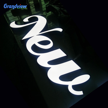 Outdoor fashion acrylic alphabet letter used lighted sign