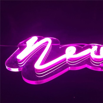 Customized Restaurant Pink Led Neon Sign