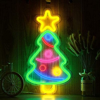 Decorative Flex Lighted Neon Color Changing Outdoor Led Merry Christmas Sign