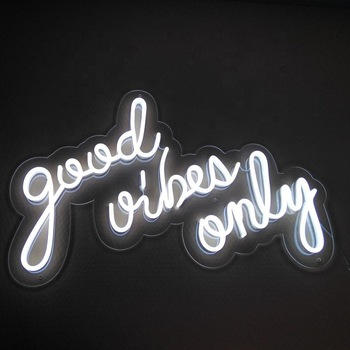 good vibes only wall mounted led neon sign