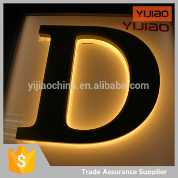 rear light letter led sign 3D illuminate acrylic sign with car paint