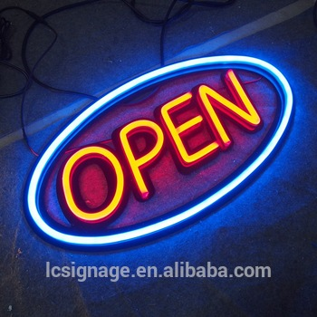 Manufacturer supply customized acrylic customized LED 12V neon light bar signs for bar open sign