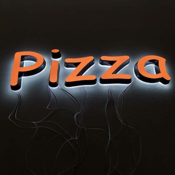 Custom business outdoor Advertising 3d letter light acrylic channel led sign