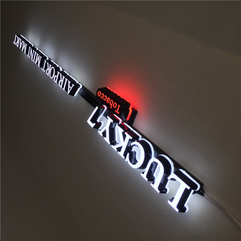 Double Sided mini led light channel letter 3D mini acrylic led luminous letters