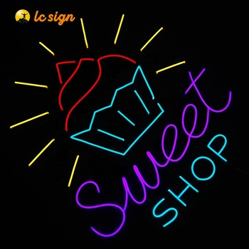 custom led neon signs light balloon sign ice cream lights for bar and some occasions