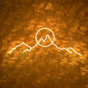 2020 newest fashion led light Led Flex Neon Sign With Acrylic Backboard 12V for party sun mountain