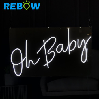led sign manufacturers china 3d sign oh baby sign