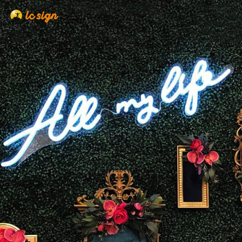 Hot sale Illuminated 3D outdoor flexible acrylic led neon sign letters custom neon sign for wedding event