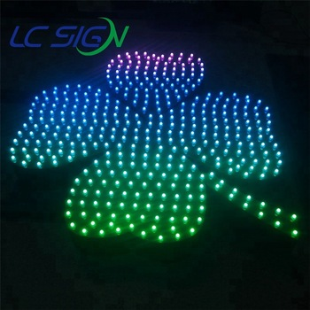 lightbox with push through lettering led hole-punch light up letters for advertising signage