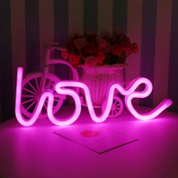 Electronic Acrylic Led Letters Decorative Custom Made Neon Sign