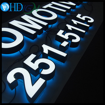 Led frontlit and  backlit sign illuminated 3D LED acrylic letter signage customizable