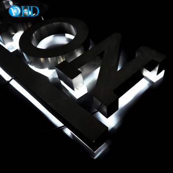 Custom Made LED Information Board Back Lighting Letters Sign