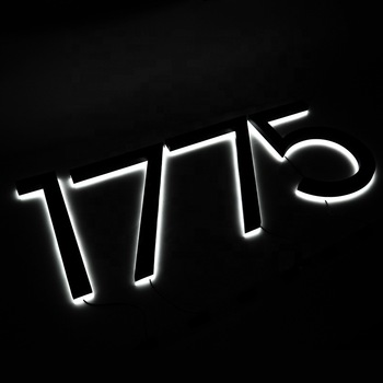 LED acrylic and metal led lighted letter sign signage house numbers