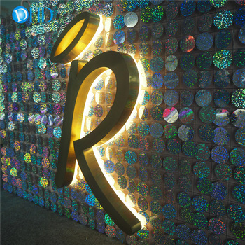 Free sign up illuminated backlit house numbers led sign board stainless steel number sign