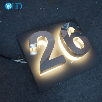 High quality wall acrylic family house number plate sign for decorations brass house numbers