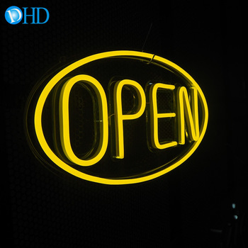 Easy use fashional striking bar open close sign pizza led open sign