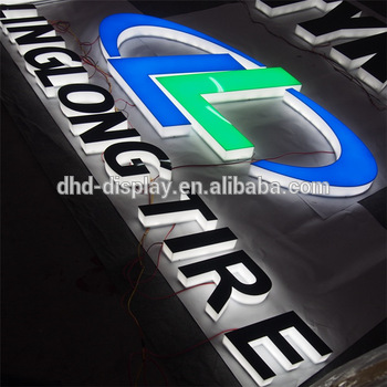 led full acrylic house numbers signs digital signage