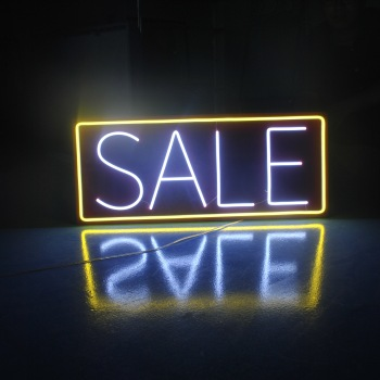 chinese factory acrylic laser cut flex led light custom neon sign for sale