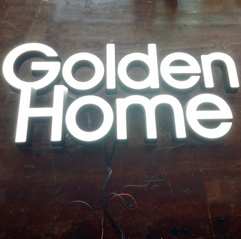 20mm depth custom made front light sign 3d all acrylic led letters