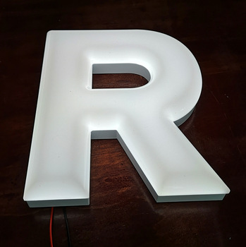Decorative store sign 3d acrylic led alphabet letters