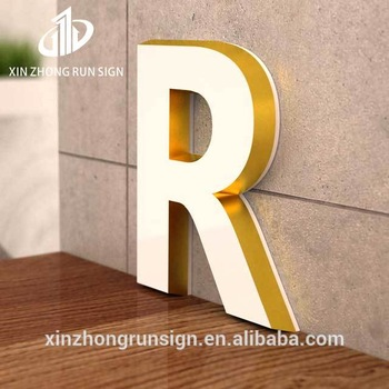 advertising led marquee signs golden letters acrylic door plate number and letter