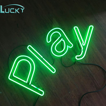 2020 fashionable design led vacuum formed neon light up letters sign