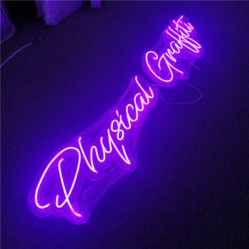Small High Brightness Flash Open Flex LED Acrylic Backing DIY Neon Sign