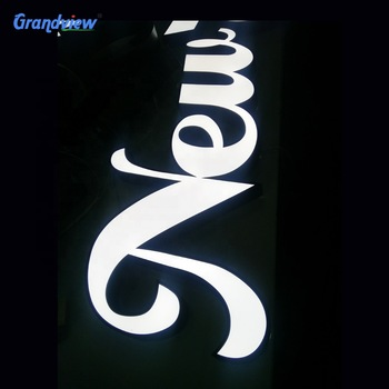 Building big size business sign acrylic channel led lighting letters
